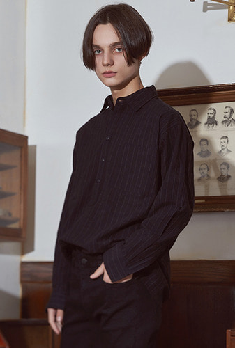 [크럼프] Crump over fit stripe shirt no.27 (CS0027)