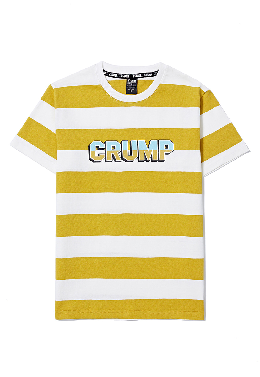 [크럼프] Crump stripe logo tee (CT0158-1)