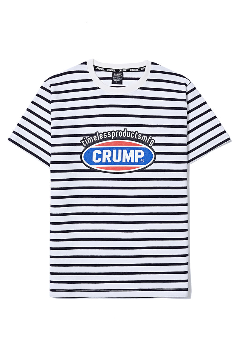 [크럼프] Crump stripe color logo tee (CT0159)