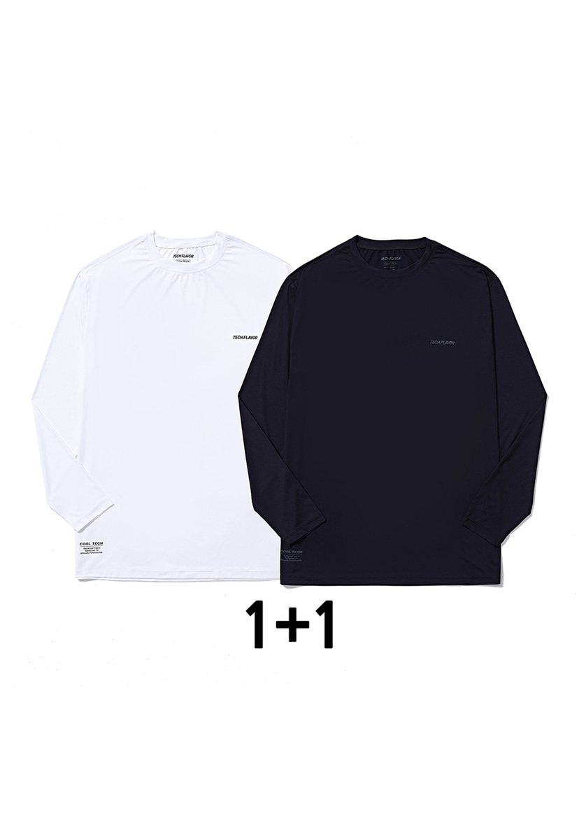[크럼프] Techflavor optimize cool teck long sleeve tee (TT0009-set)
