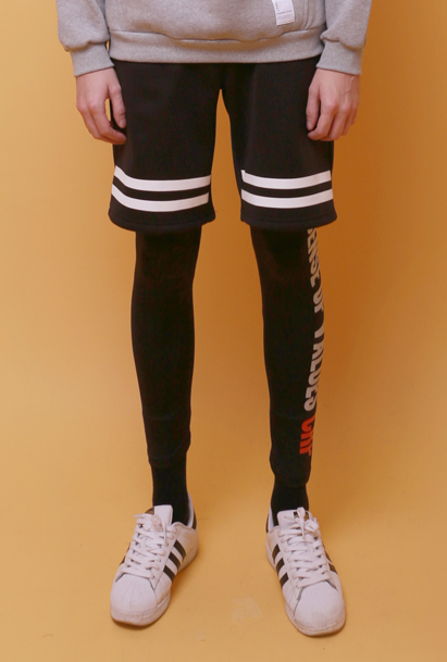 Crump fleece leggings pants (CP0005) black