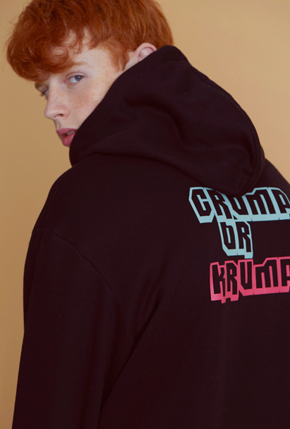 Crump graphic hoodie (CT0038) 2컬러