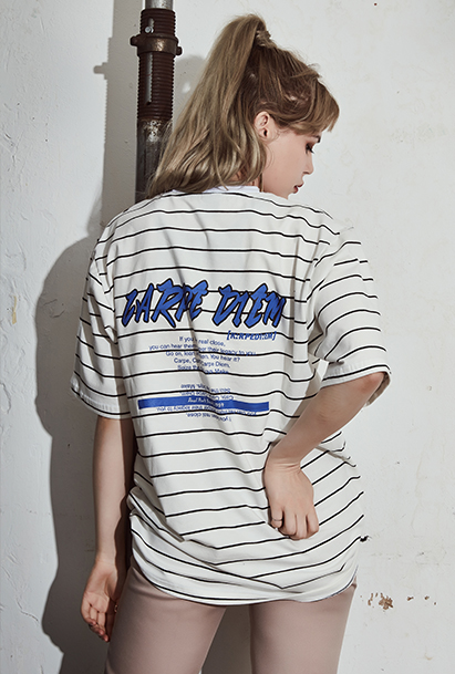 [크럼프] Crump carpediem stripe tee(CT0095)