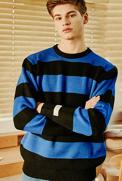 [크럼프] Crump stripe overfit knit (CT0121)