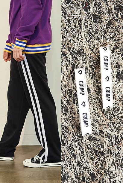 [크럼프] Crump two line track pants + Crump logo pants holder (CP0050)