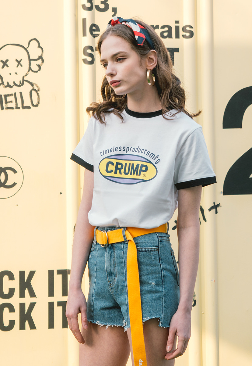 [크럼프] Crump color logo woman tee (CT0140-1)
