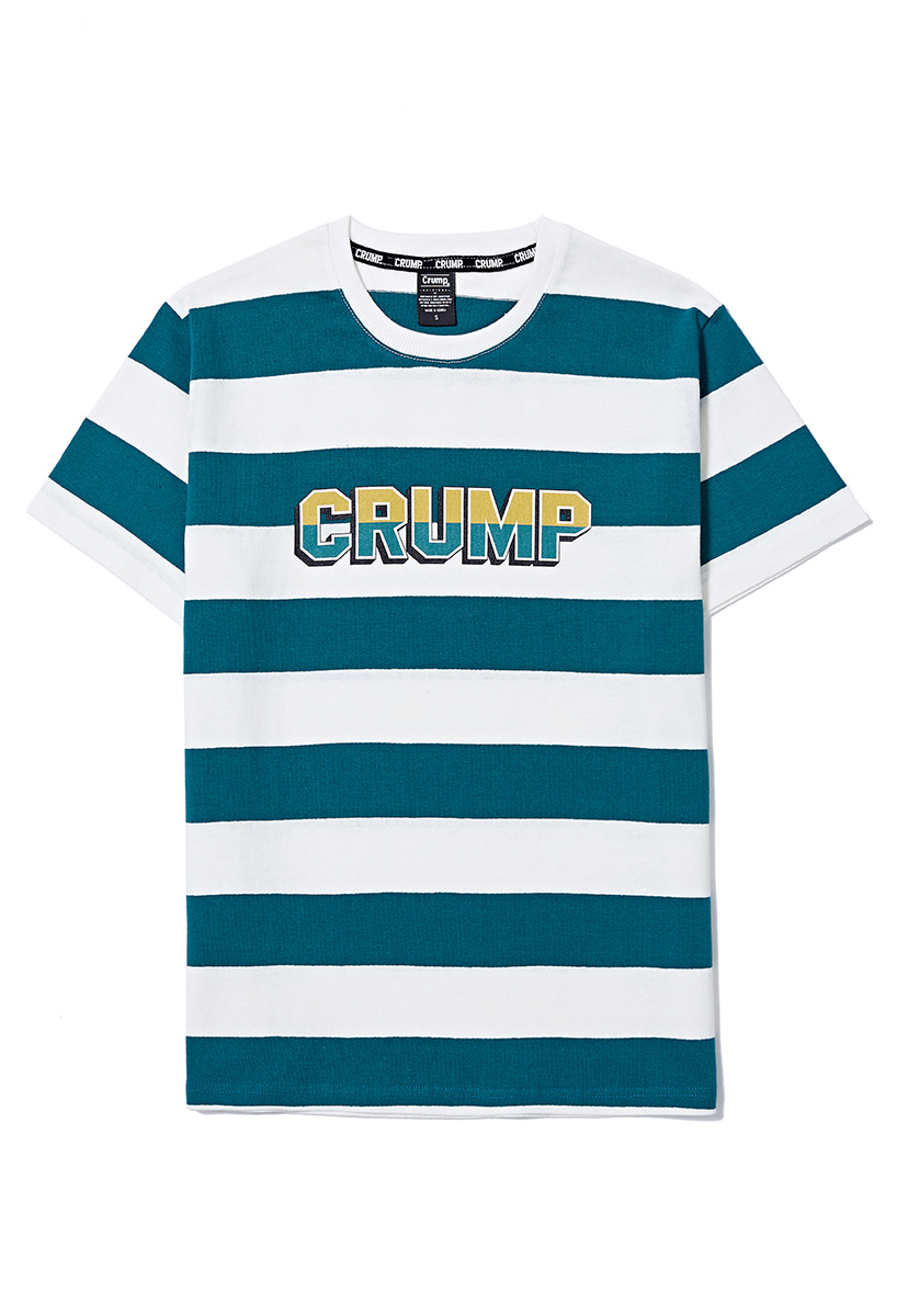 [크럼프] Crump stripe logo tee (CT0158)