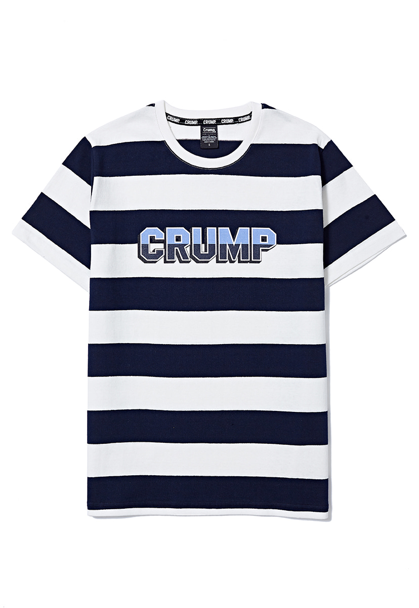 [크럼프] Crump stripe logo tee (CT0158-2)