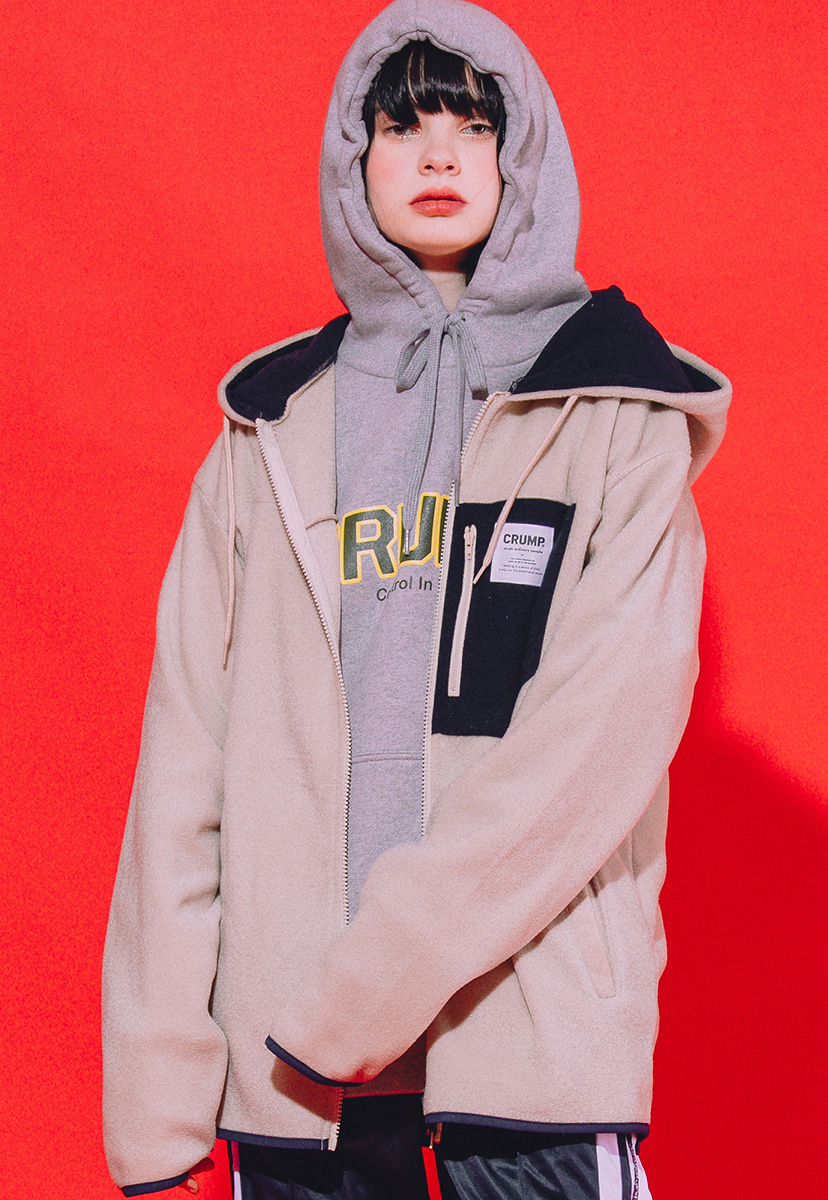 [크럼프] Crump mountain fleece hoodie zipup (CO0022-2)