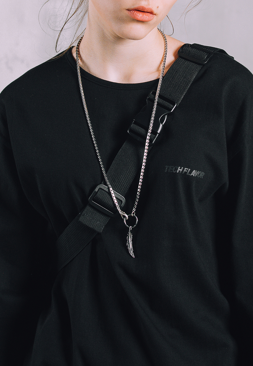 [크럼프] Techflavor feather necklace (TA0013)