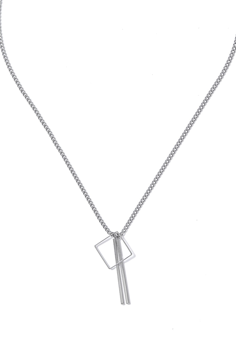 [크럼프] Crump surgical steel square necklace(CA0014)