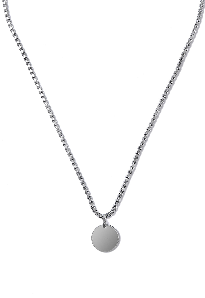 [크럼프] Crump surgical steel round necklace (CA0013)