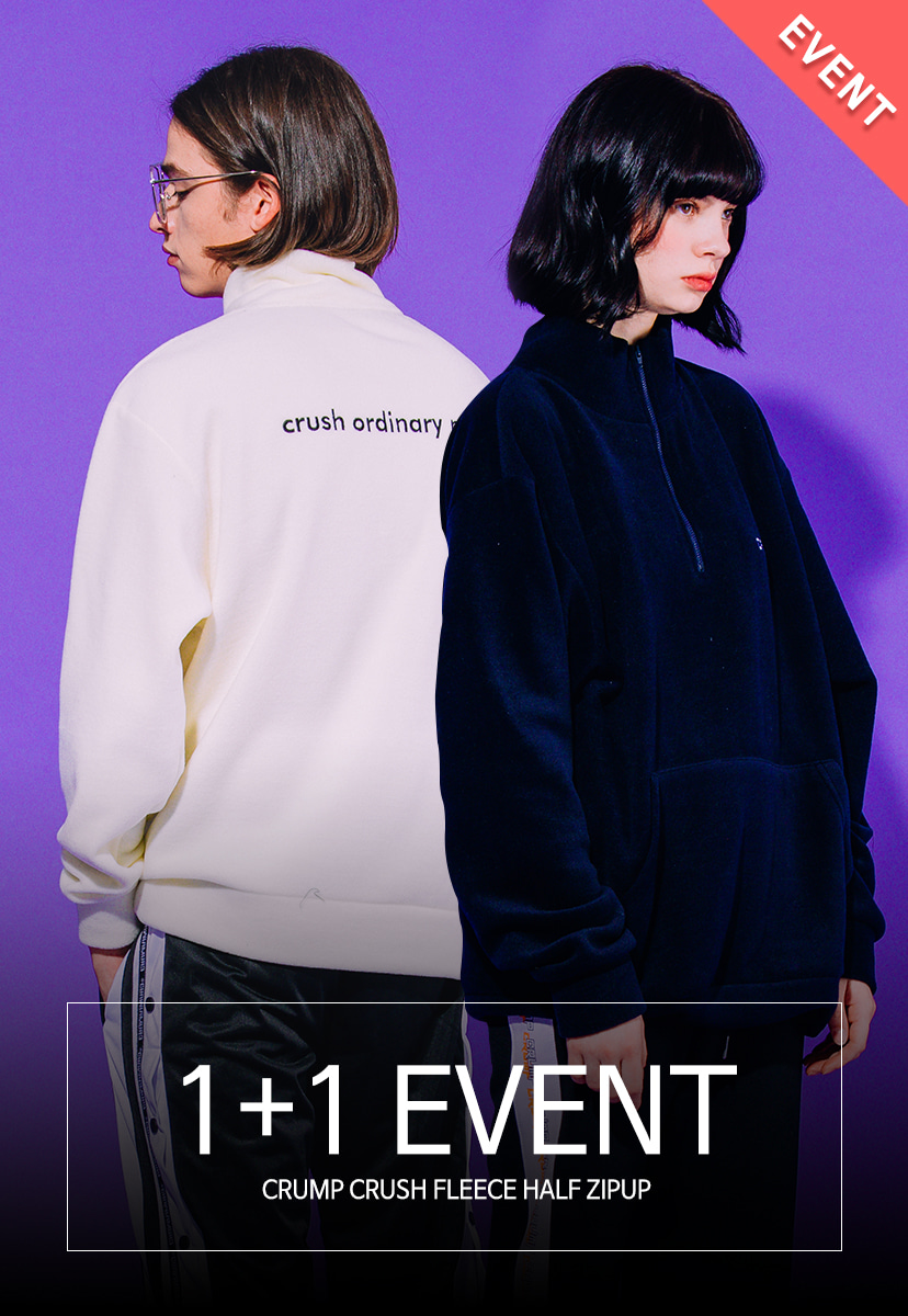 1+1EVENT[크럼프] Crump crush fleece half zipup (CT0179)