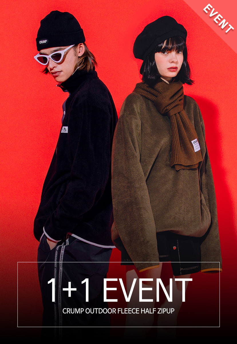 1+1 EVENT[크럼프] Crump outdoor fleece half zipup (CT0178)