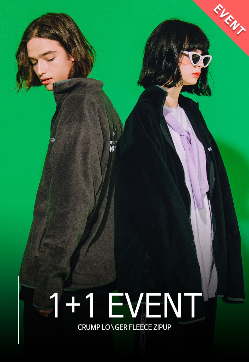1+1 EVENT[크럼프] Crump longer fleece zipup (CO0023)
