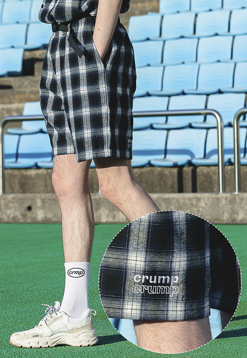 [크럼프] Crump plaid check half pants (CP0088)