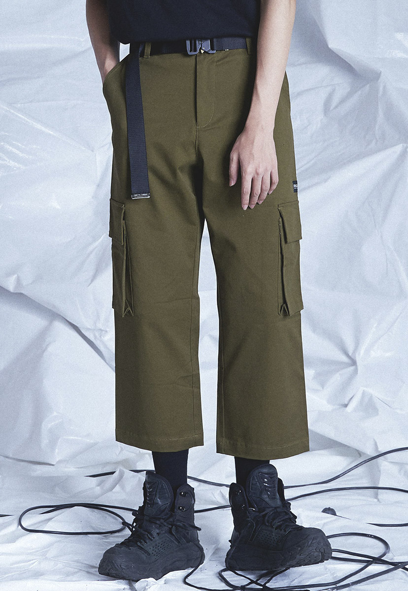 [테크플레이버] Techflavor cargo banding crop pants (TP0019-1)