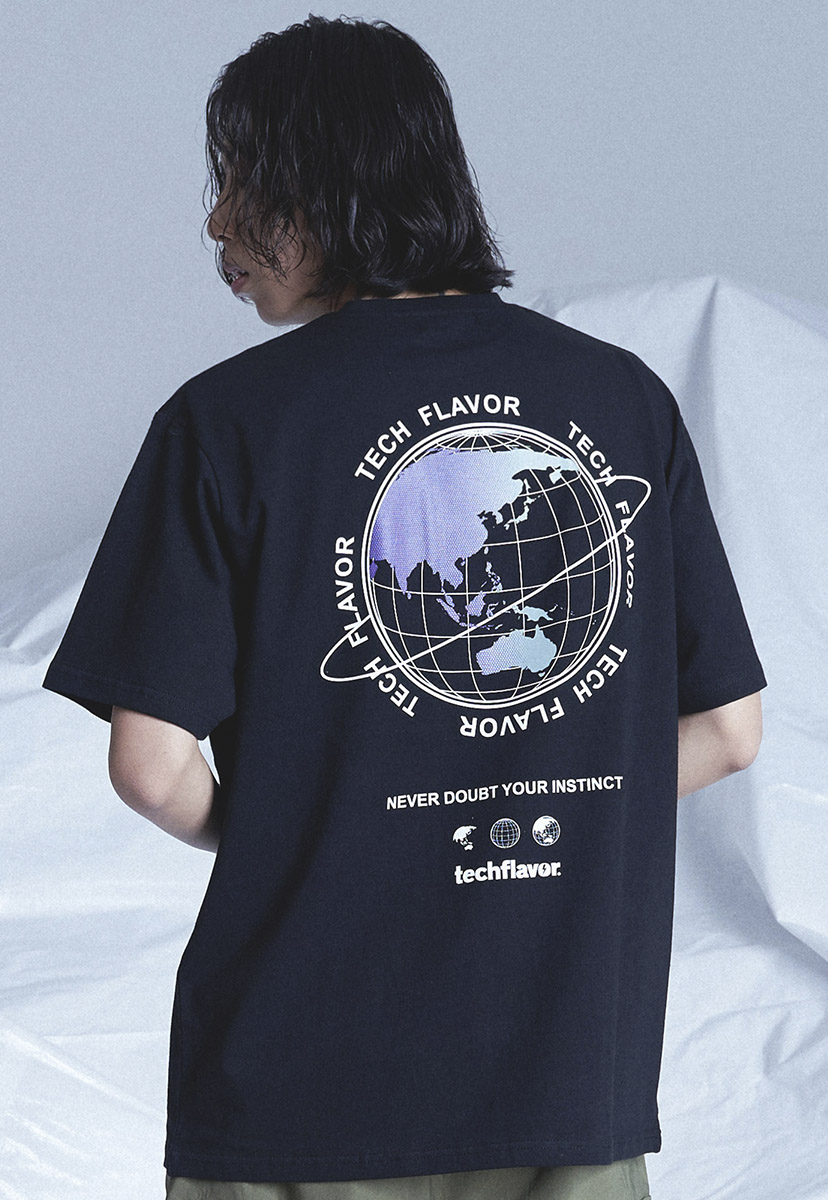 [테크플레이버] Techflavor earth logo t-shirt (TT0021)