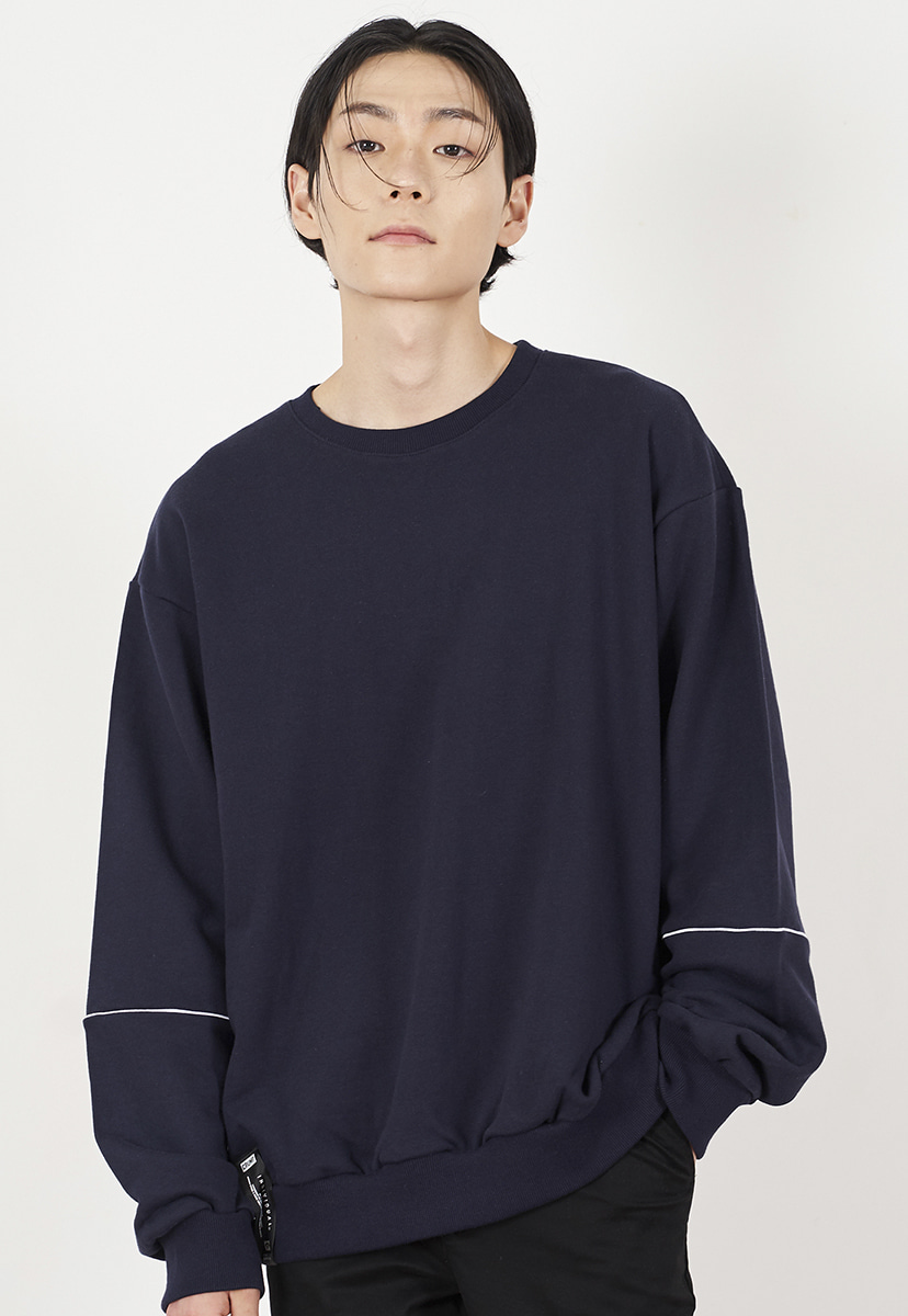[크럼프] Crump piping crewneck (CT0226-1)