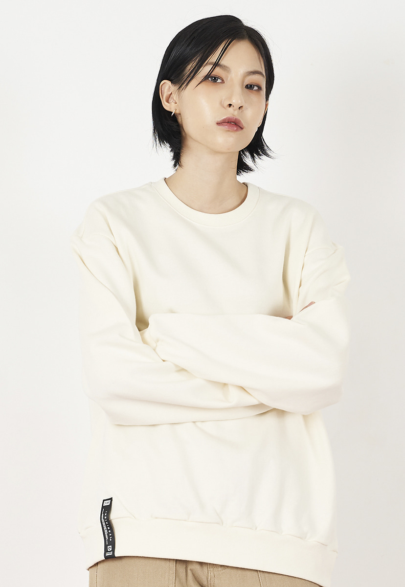 [크럼프] Crump overfit solid crewneck (CT0223-4)