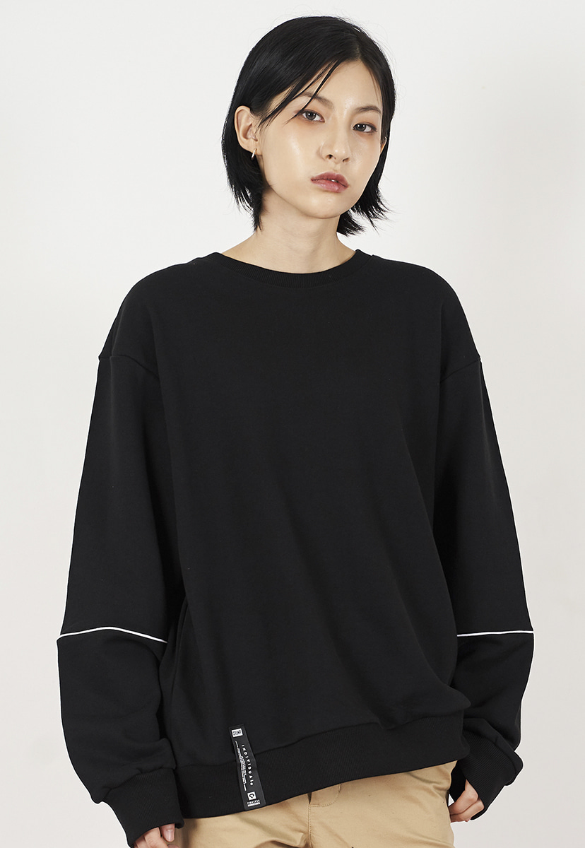 [크럼프] Crump piping crewneck (CT0226)