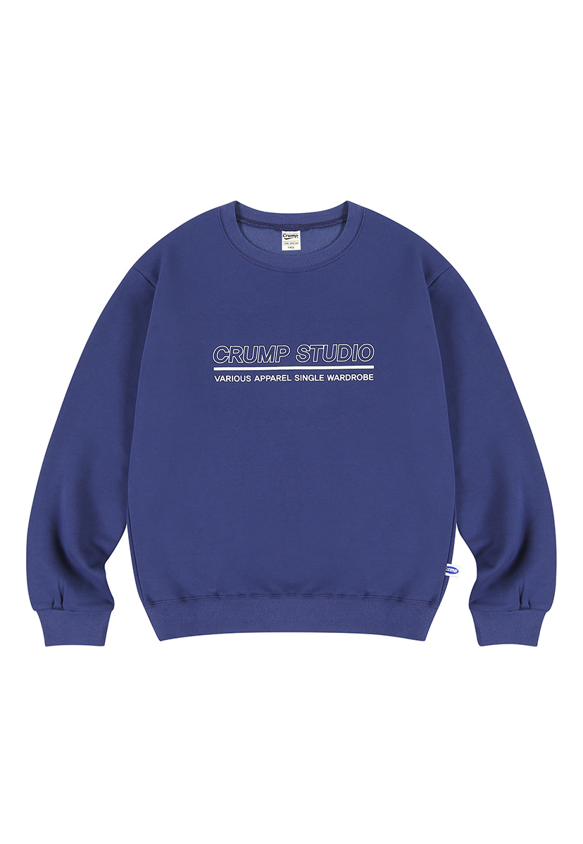[크럼프][기모] Crump outline logo crewneck (CT0236g-1)