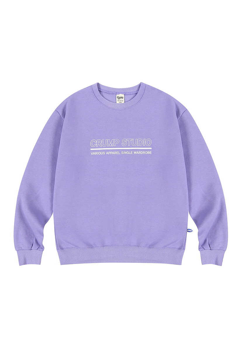 [12/6 예약배송][크럼프][기모] Crump outline logo crewneck (CT0236g-2)