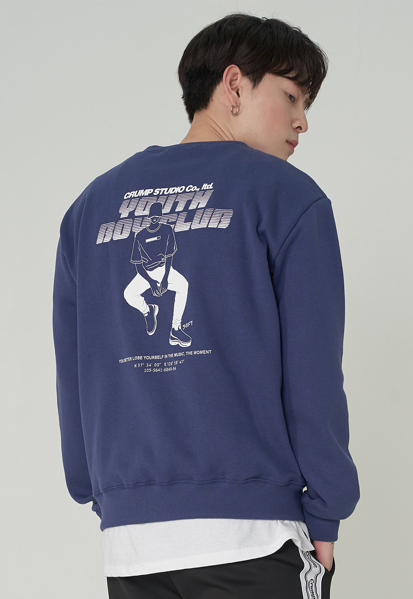 [크럼프][기모] Crump X seo boseon youth boy crewneck (CT0249g-1)