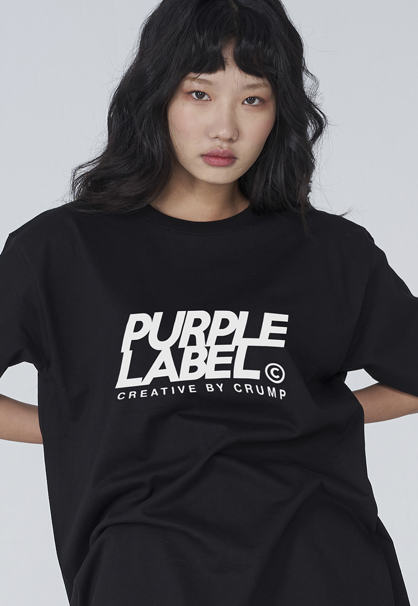 [퍼플라벨] Purple label signature logo tee (PT0001)