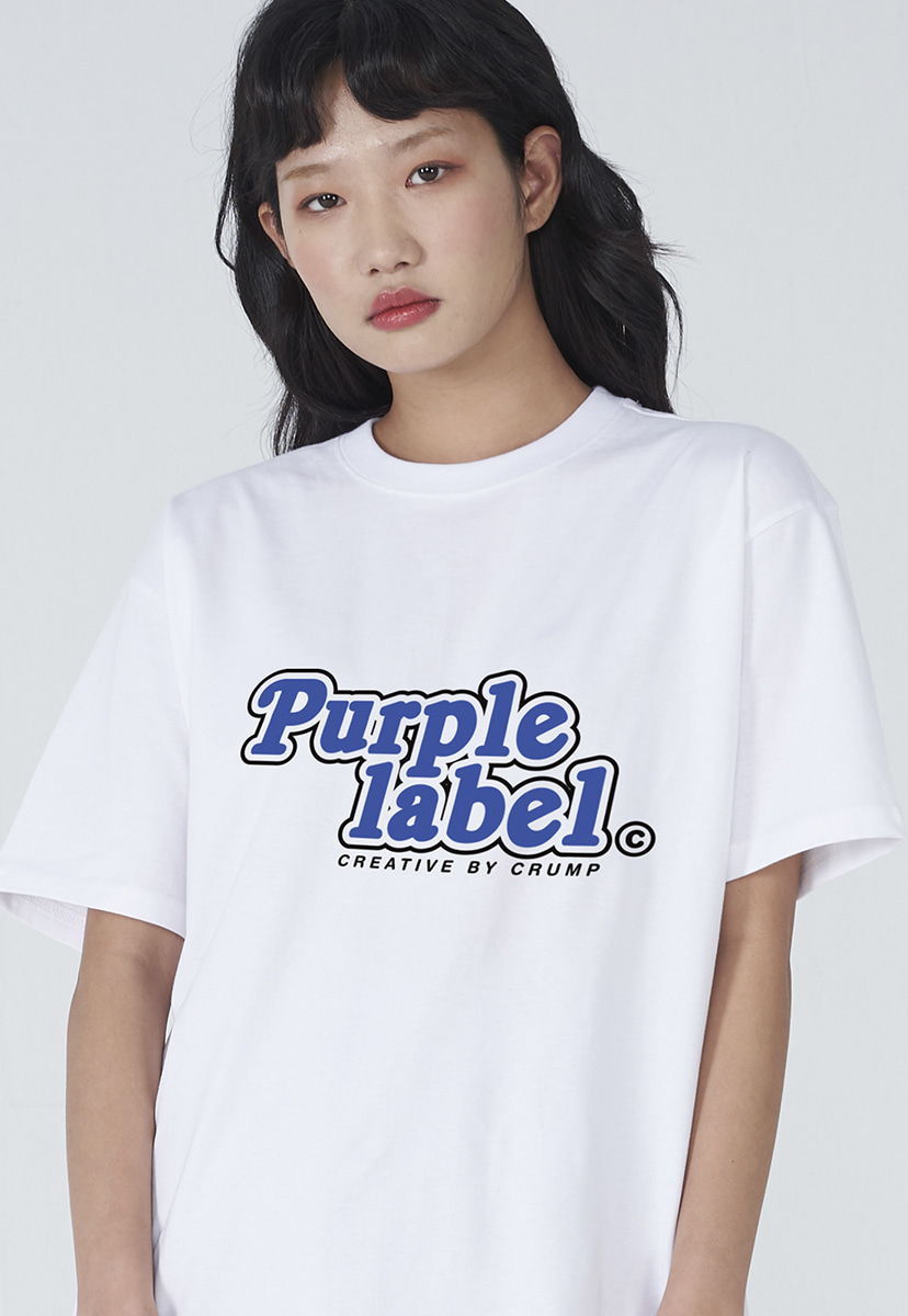 [퍼플라벨] Purple label roundig logo tee (PT0010-2)