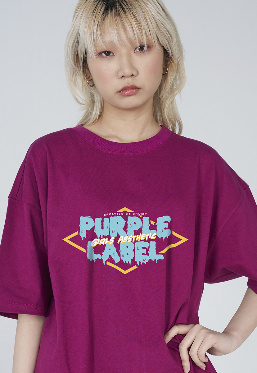 [퍼플라벨] Purple label melting logo tee (PT0007-1)