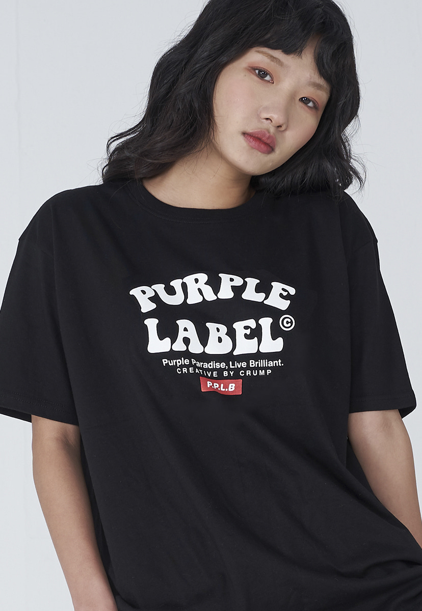 [퍼플라벨] Purple label convex logo tee (PT0011)