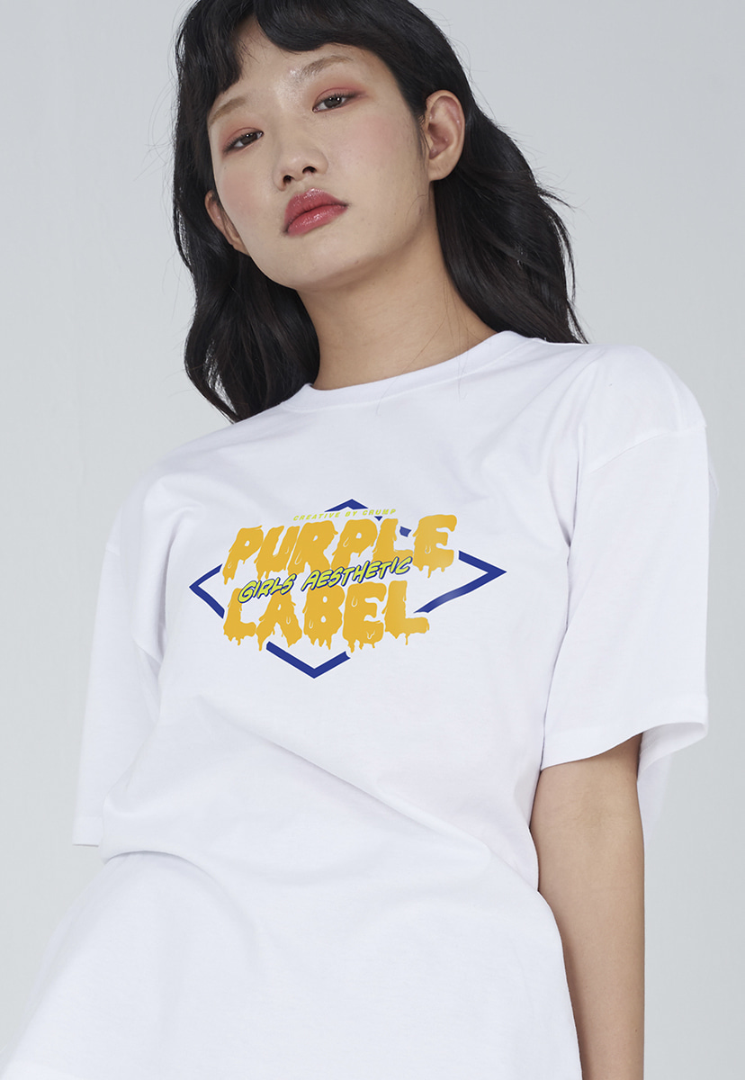 [퍼플라벨] Purple label melting logo tee (PT0007-2)