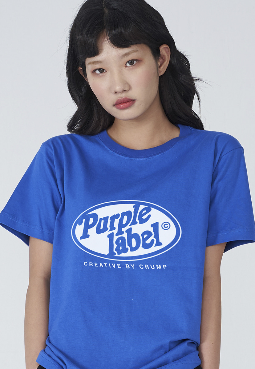 [퍼플라벨] Purple label circle line lettering tee (PT0005-2)