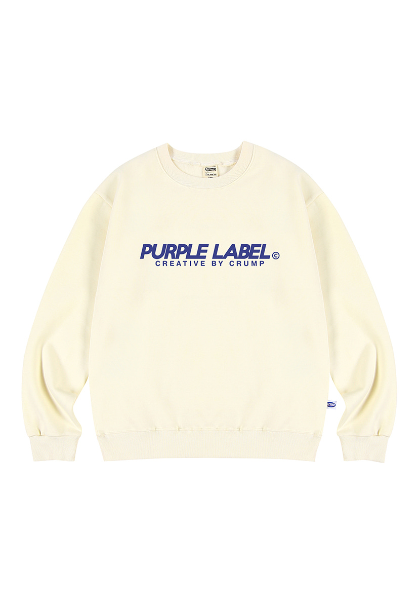 [퍼플라벨] Purple label Basic Logo crewneck (PT0023-2)