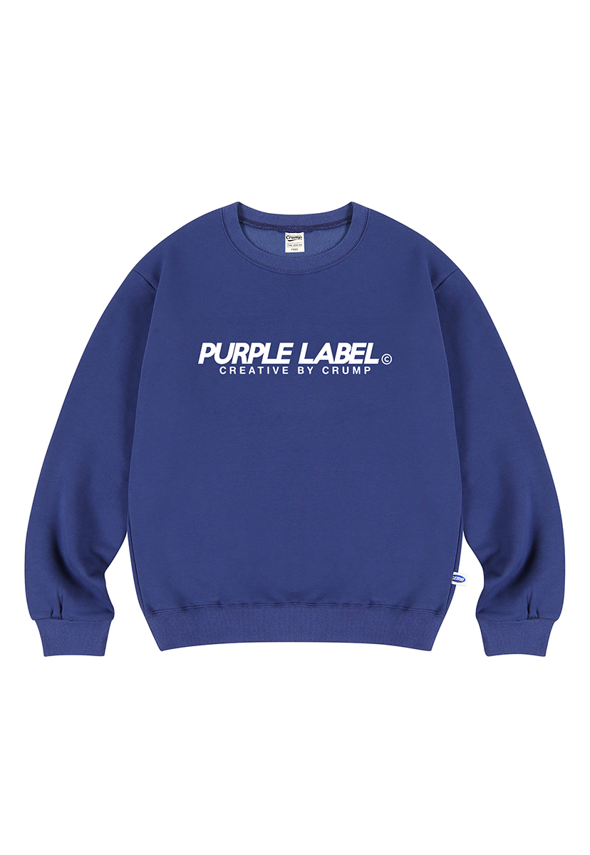 [퍼플라벨] Purple label Basic Logo crewneck (PT0023)