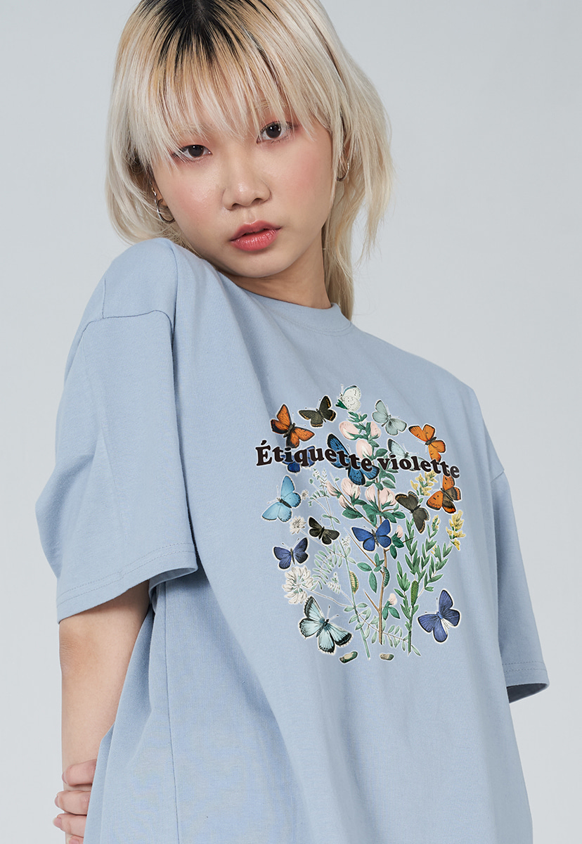 [퍼플라벨] PURPLE LABEL VINTAGE FLOWER TEE (PT0036-2)