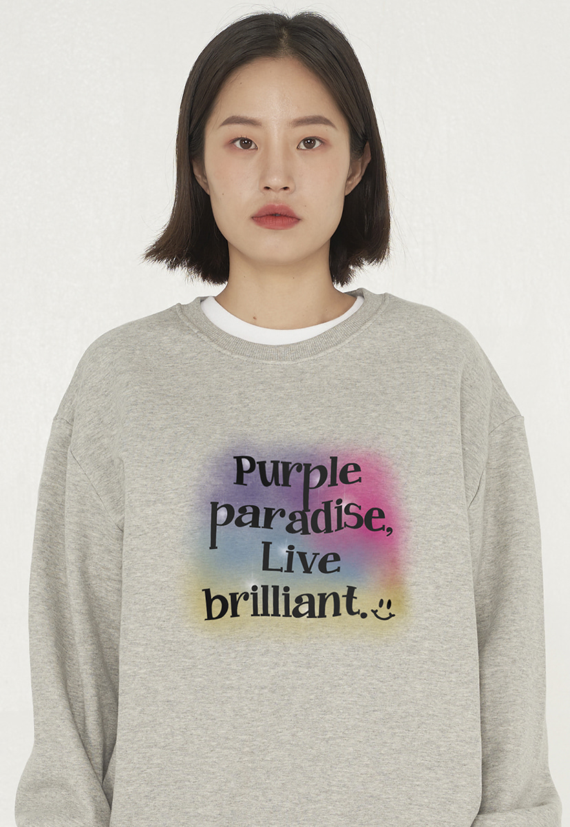 [퍼플라벨][기모] watercolor graphics crewneck (PT0045g-1)
