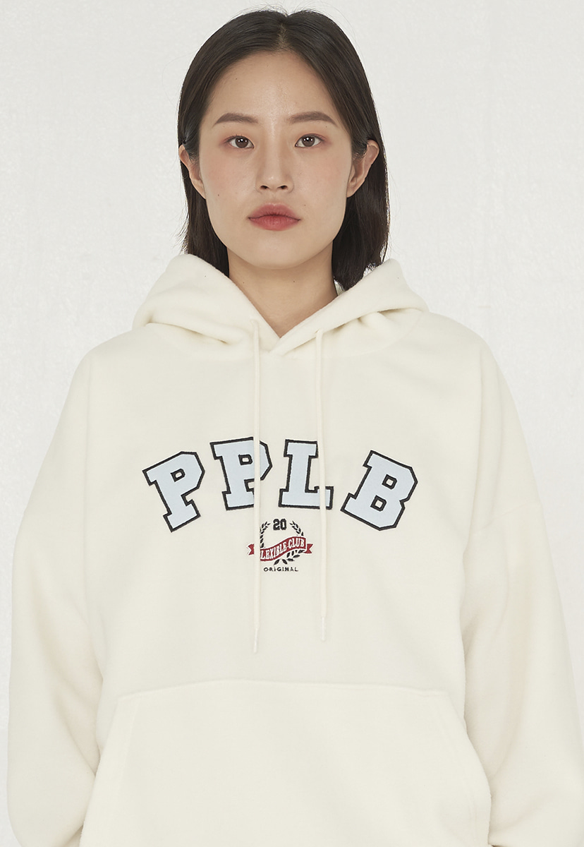 [퍼플라벨] applique fleece hoodie (PT0052-2)