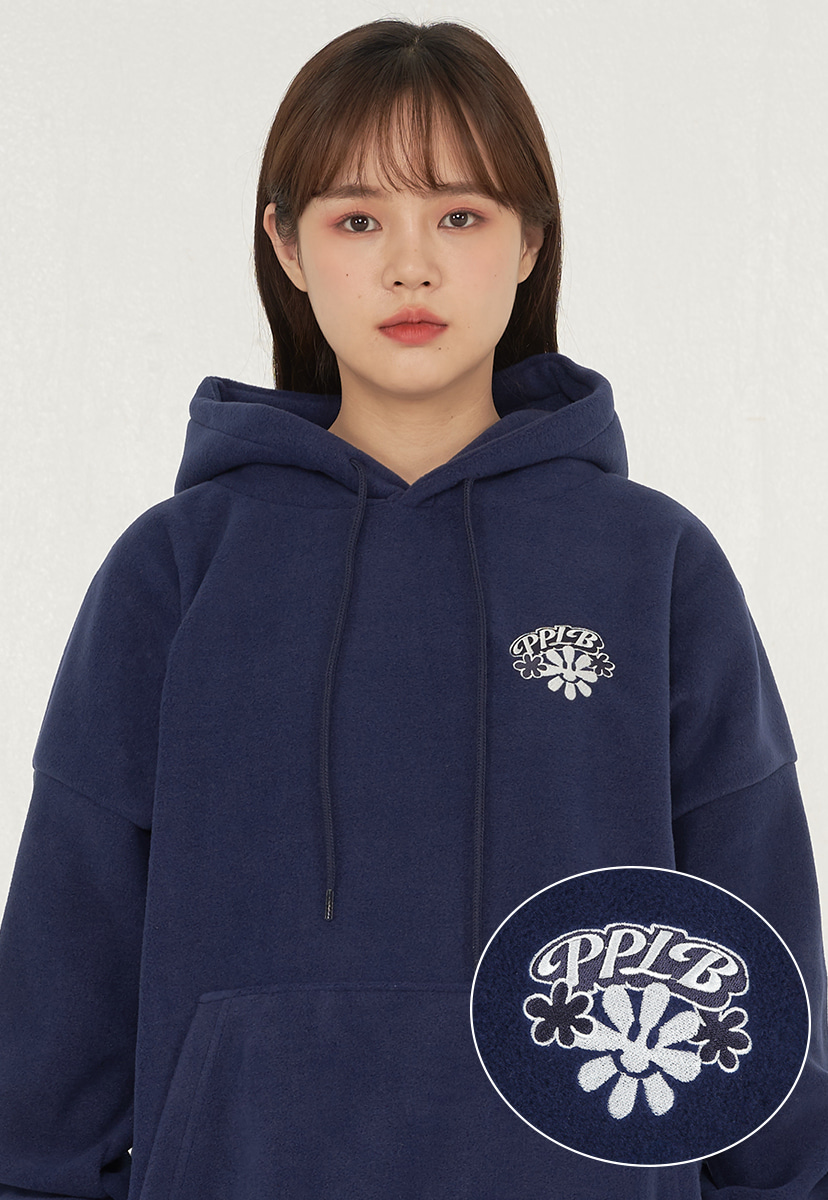 [퍼플라벨] smile flower fleece hoodie (PT0053-1)