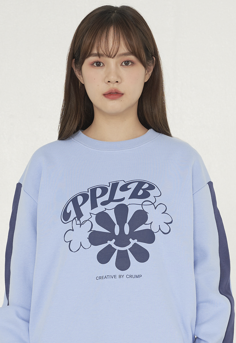 [퍼플라벨][기모] smile flower crewneck (PT0042g-2)