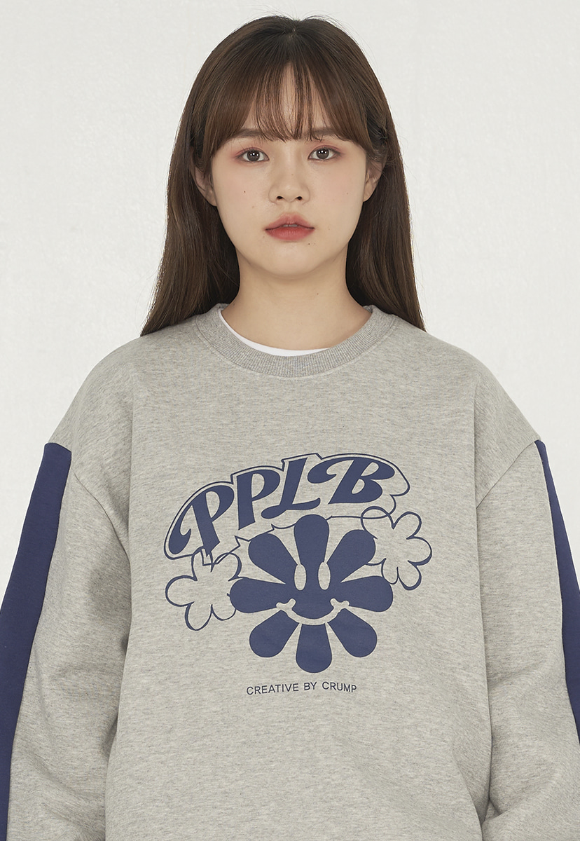 [퍼플라벨][기모] smile flower crewneck (PT0042g-1)