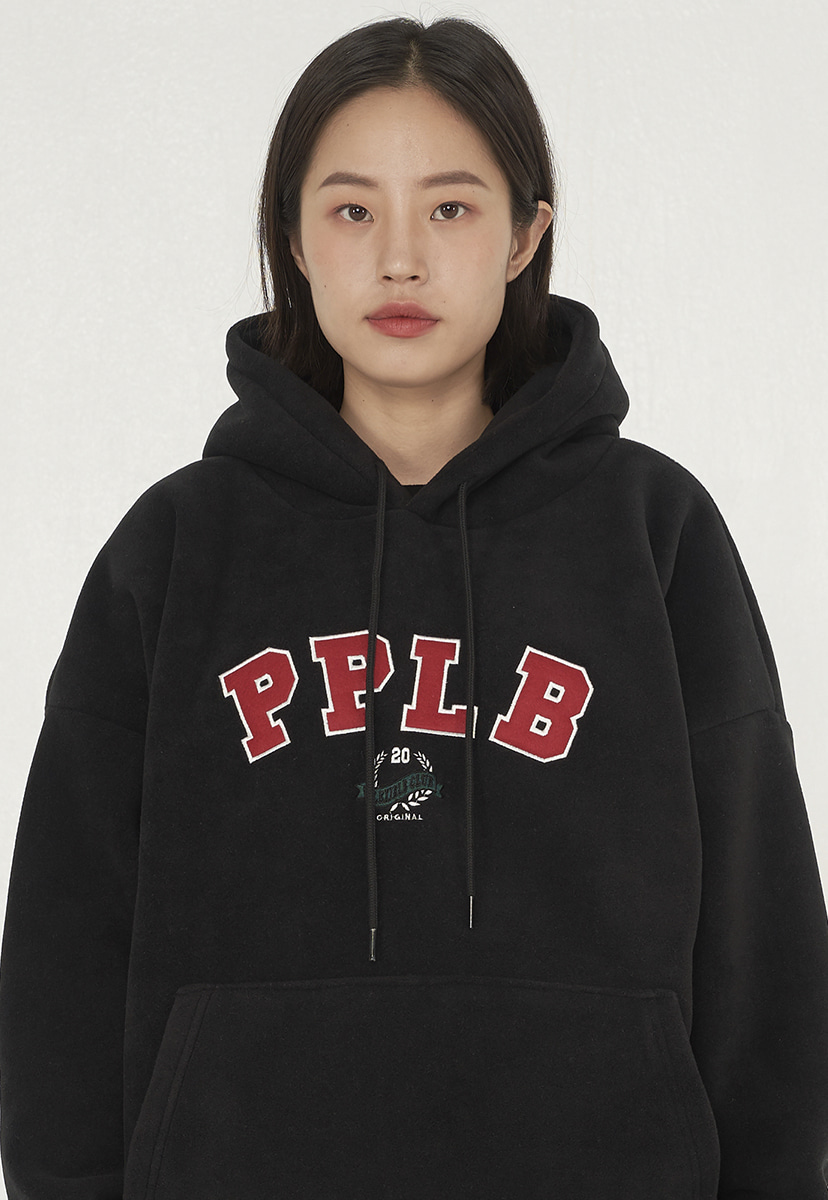 [퍼플라벨] applique fleece hoodie (PT0052)
