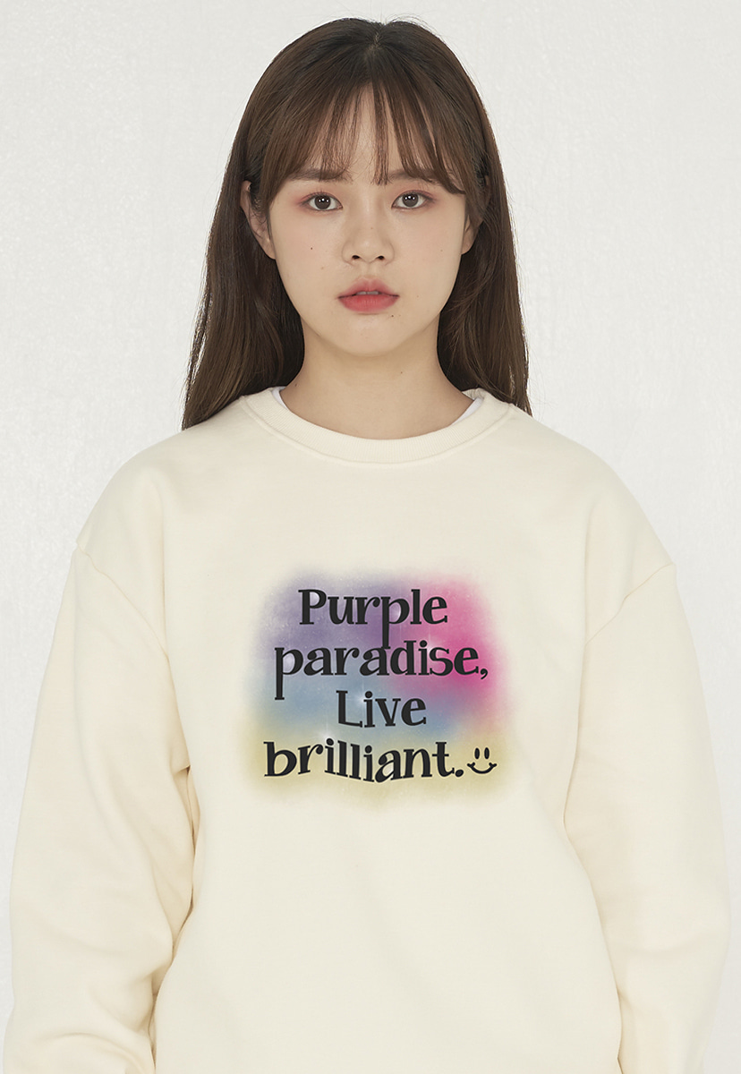 [퍼플라벨][기모] watercolor graphics crewneck (PT0045g-2)