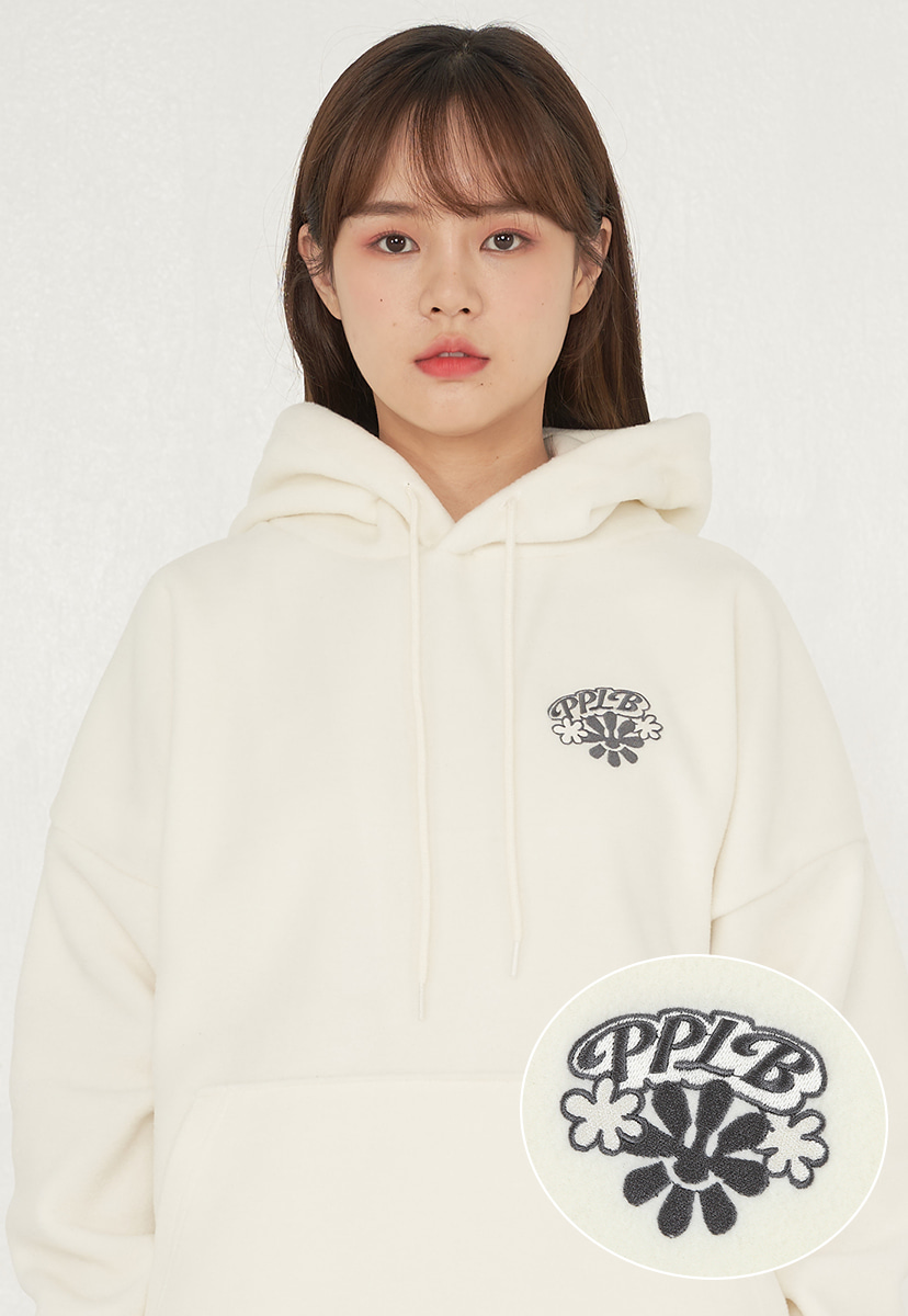 [퍼플라벨] smile flower fleece hoodie (PT0053-2)