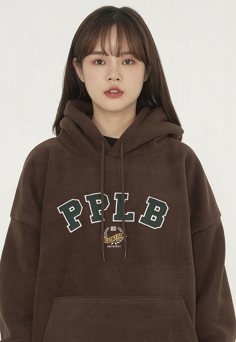 [퍼플라벨] applique fleece hoodie (PT0052-1)