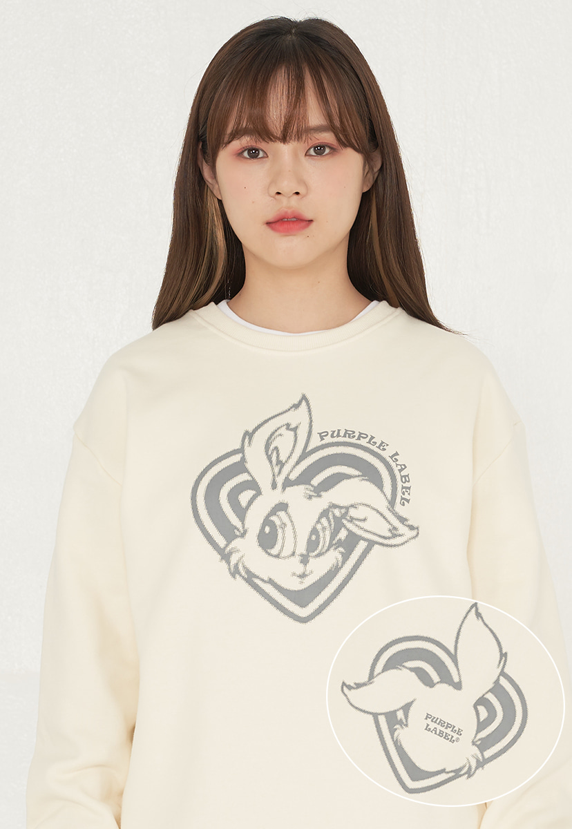 [퍼플라벨][기모] sloppy bunny crewneck (PT0041g-2)