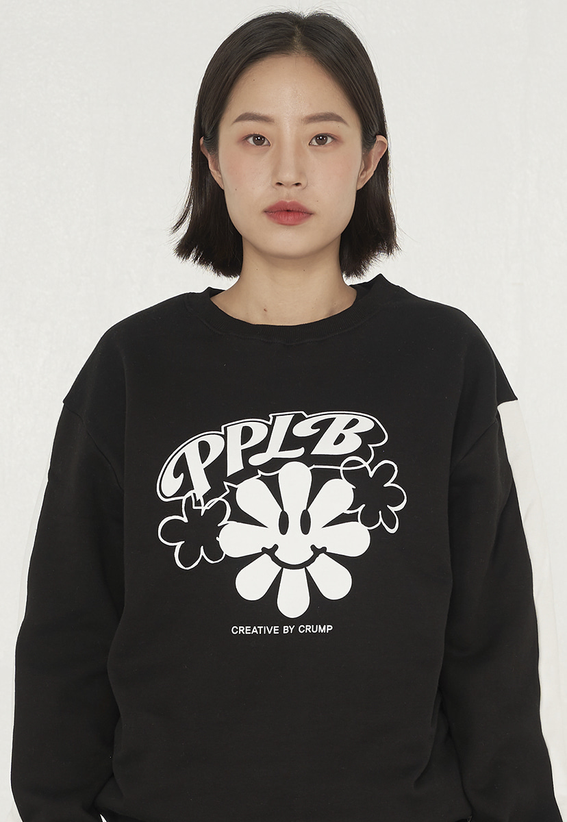[퍼플라벨][기모] smile flower crewneck (PT0042g)