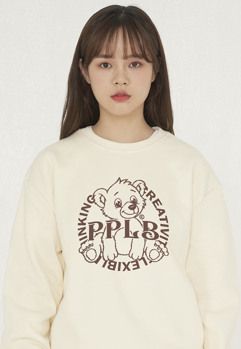 [퍼플라벨][기모] bear friends crewneck (PT0057g-3)