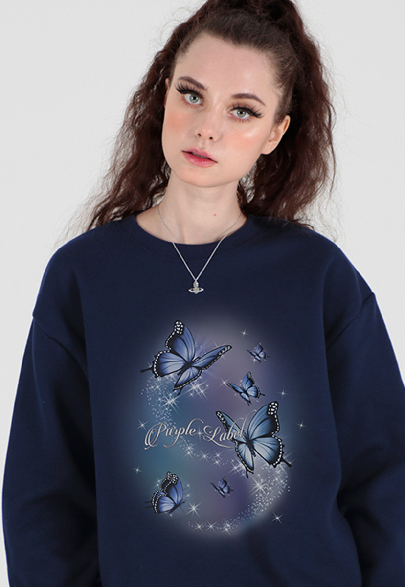 [퍼플라벨] aurora butterfly sweat shirts (PT0066-1)